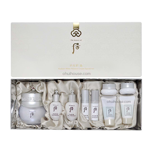 Bộ dưỡng trắng ban đêm Whoo Radiant White Moisture Cream Special Set (6 SP)