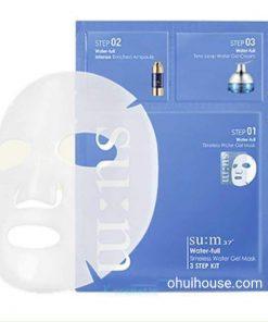 Mặt nạ dưỡng ẩm chuyên sâu Su:m37 Water-full Timeless Water Gel Mask 3 Step Kit