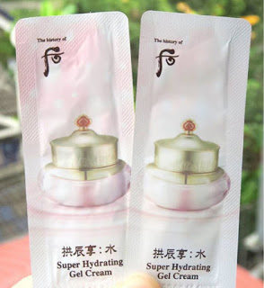Set 10 gói Sample Kem dưỡng Whoo Super Hydrating Gel Cream