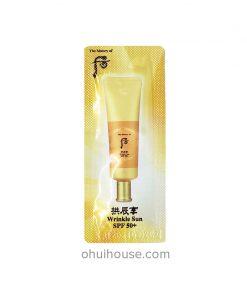 Set 10 gói Sample Kem chống nắng giảm nếp nhăn Whoo Jin Hae Yoon Wrinkle Sun Cream SPF 50+