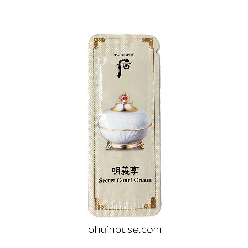 Set 10 gói Sample Kem dưỡng ẩm chống lão hóa Whoo Secret Court Cream