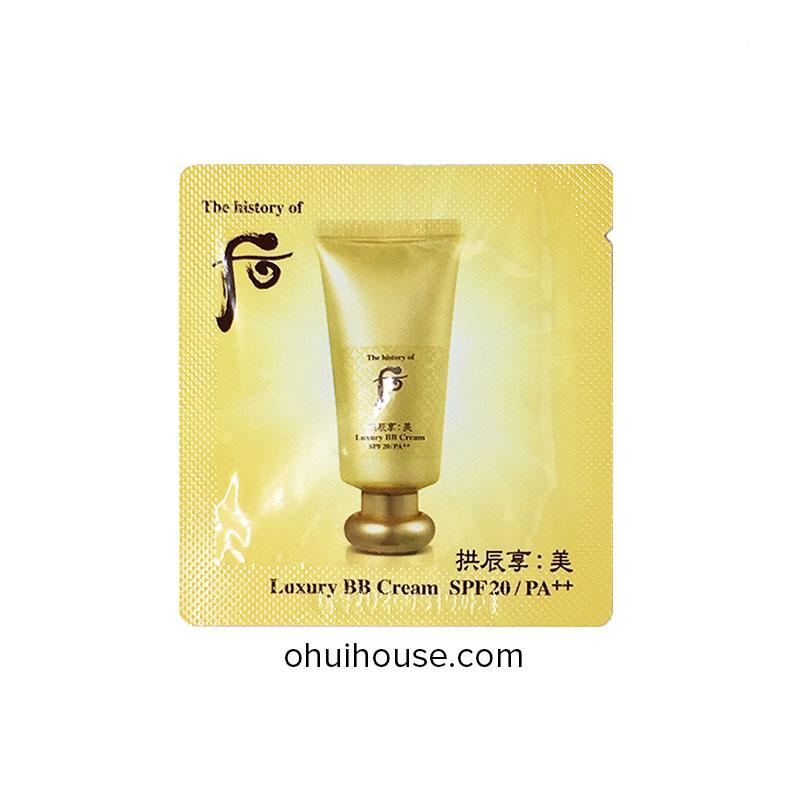 Set 10 gói Sample Kem lót cao cấp Whoo Luxury BB Cream SPF20 PA++