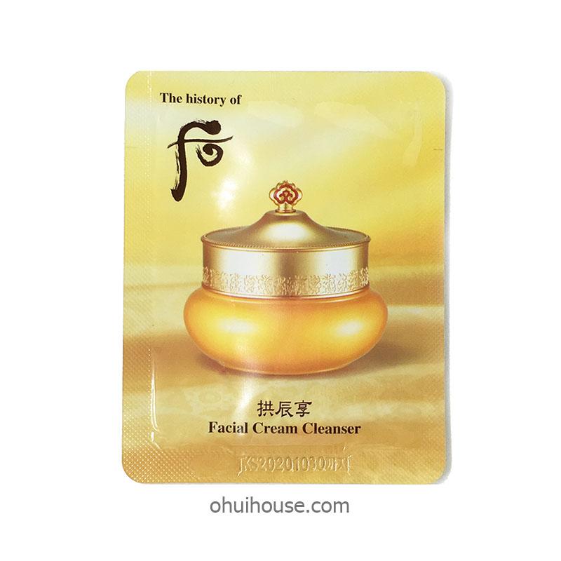 Set 10 gói Sample Kem tẩy trang Whoo Facial Cream Cleanser