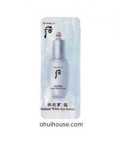 Set 10 gói Sample Tinh chất đặc trị thâm vùng mắt Whoo Radiant White Eye Serum