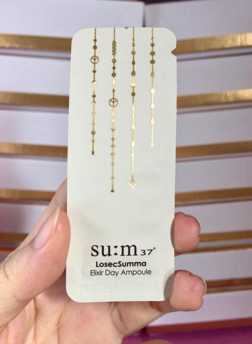 Set 10 gói Sample Tinh chất vàng 24K dưỡng ban đêm Su:m37 Losec Summa Elixir Night Ampoule