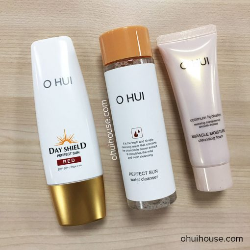 Bộ Kem chống nắng O HUI Day Shield Perfect Sun Red Special Set (3 SP)
