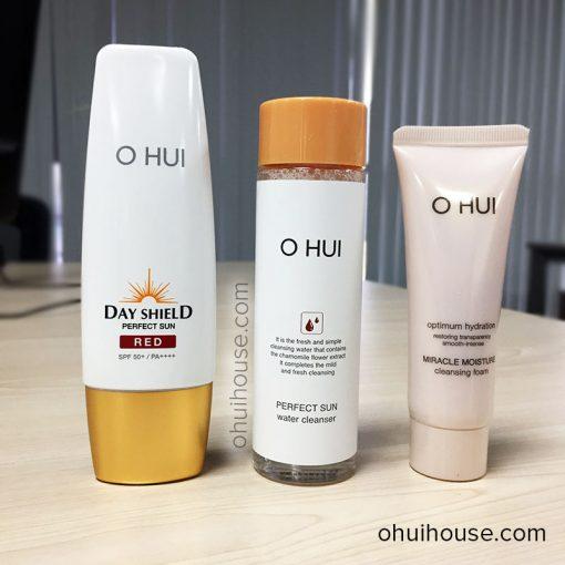 Bộ 3 sản phẩm kem chống nắng O HUI Day Shield Perfect Sun Red