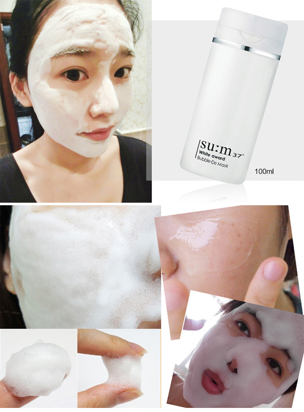 Review Set 10 gói Sample Mặt nạ sủi bọt thải độc Su:m37 Bright Award Bubble-De Mask Pack