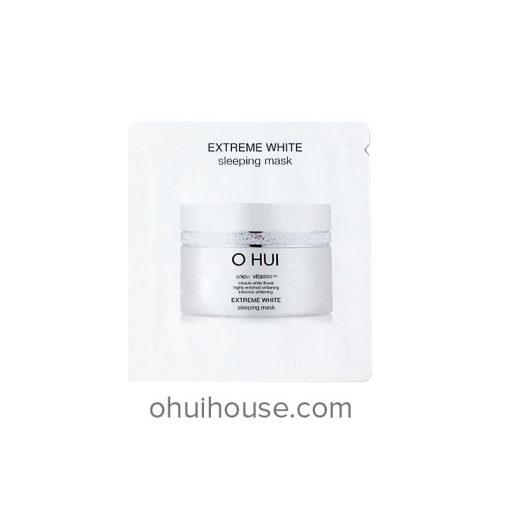 Set 10 gói Sample Mặt nạ ngủ dưỡng trắng da Ohui Extreme White Sleeping Mask