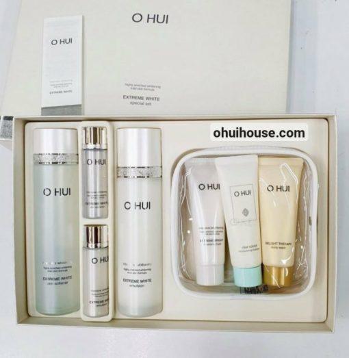Bộ dưỡng trắng da chuyên sâu OHUI Extreme White Special Set Intensive