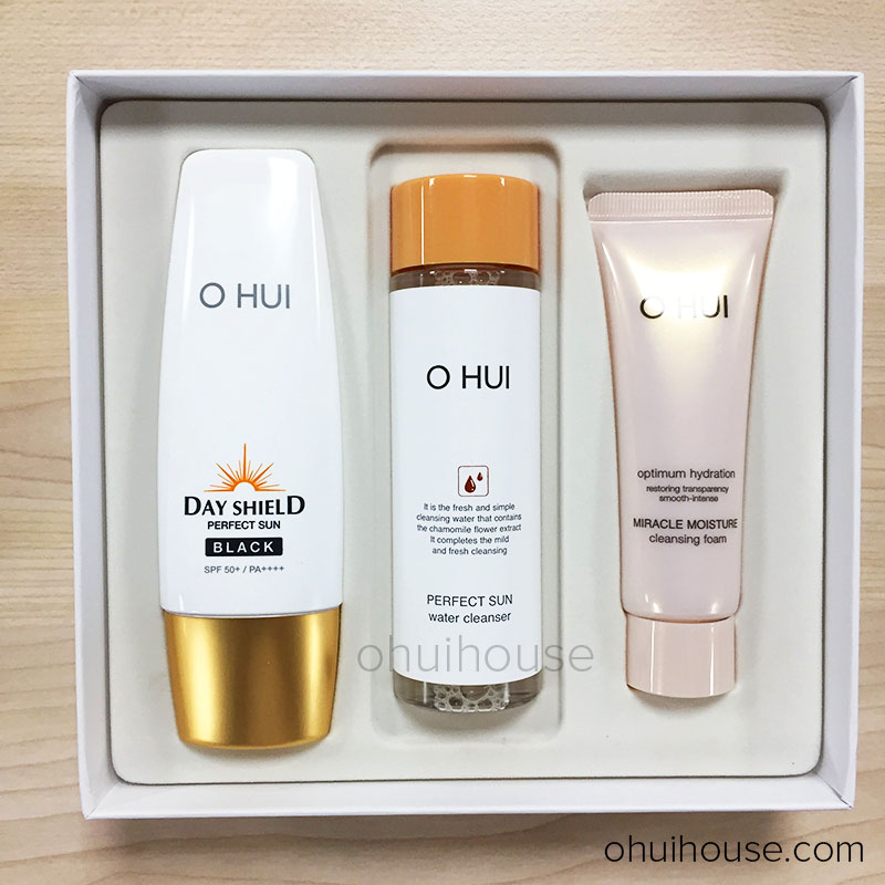 Bộ Kem chống nắng OHUI Day Shield Perfect Sun Black Special Set (3 SP)