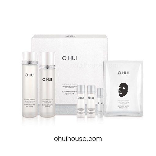 Bộ dưỡng trắng da chuyên sâu OHUI Extreme White Special Set Intensive Whitening (6 SP)