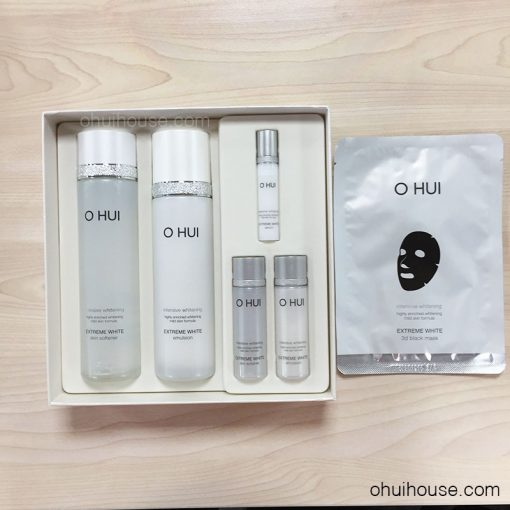 Trọn Bộ dưỡng trắng da chuyên sâu OHUI Extreme White Special Set Intensive Whitening (6 SP)