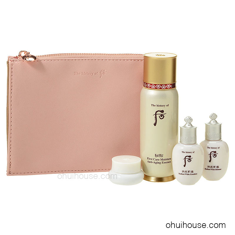 Bộ dưỡng chống lão hóa Whoo Bichup First Care Moisture Anti-Aging Essence Special Set (4 SP)