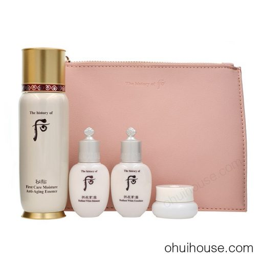Review Set dưỡng chống lão hóa Whoo Bichup First Care Moisture Anti-Aging Essence Special Set (4 SP)