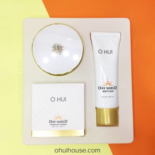 Bộ phấn nước OHUI Day Shield Primer Sun Cushion SPF50+/PA+++ Special Set