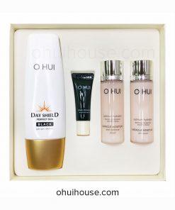 Bộ chống nắng dưỡng ẩm OHUI Day Shield Perfect Sun Black Special Set (4 sản phẩm)