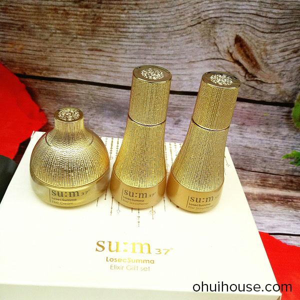 Bộ dưỡng mini tái sinh da cao cấp Su:m37 Losec Summa Elixir Gift Set (3 sản phẩm)