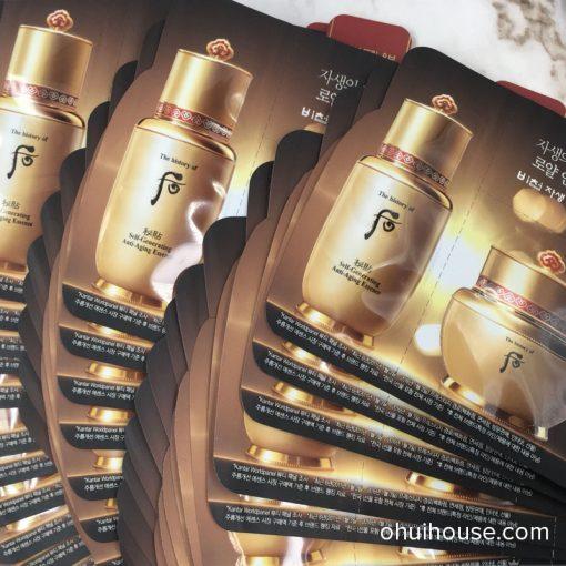Set 5 Sample tinh chất và kem dưỡng chống lão hóa Whoo Royal Anti-Aging Duo Trial Kit