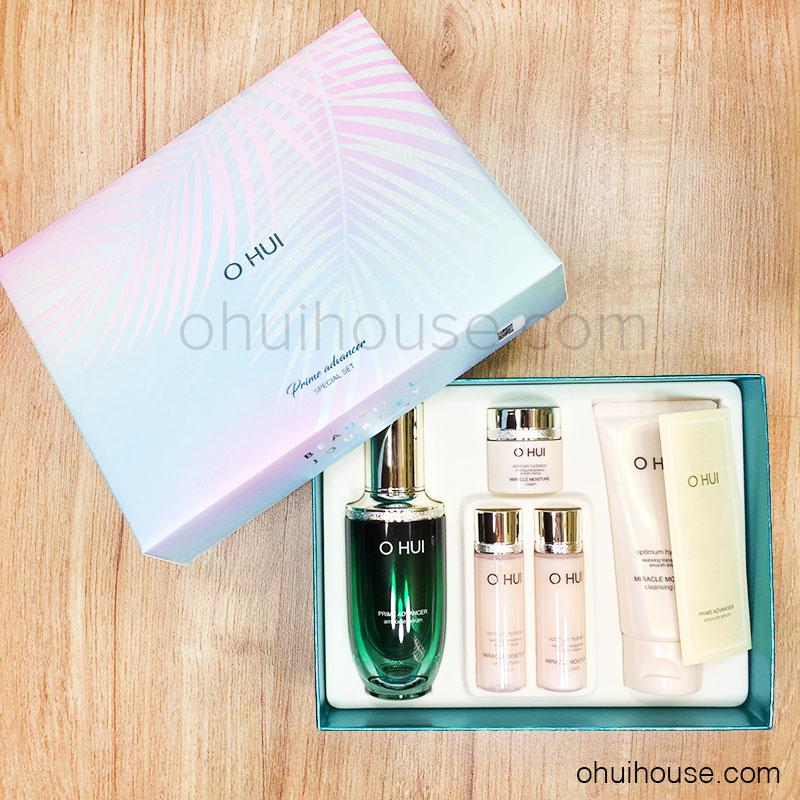 Bộ siêu dưỡng ẩm chống lão hóa OHUI Prime Advancer Ampoule Serum ASIANA  Special Set (