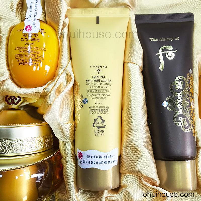 Sữa rửa mặt dưỡng ẩm Whoo Gongjinhyang Facial Foam Cleanser (40ml)