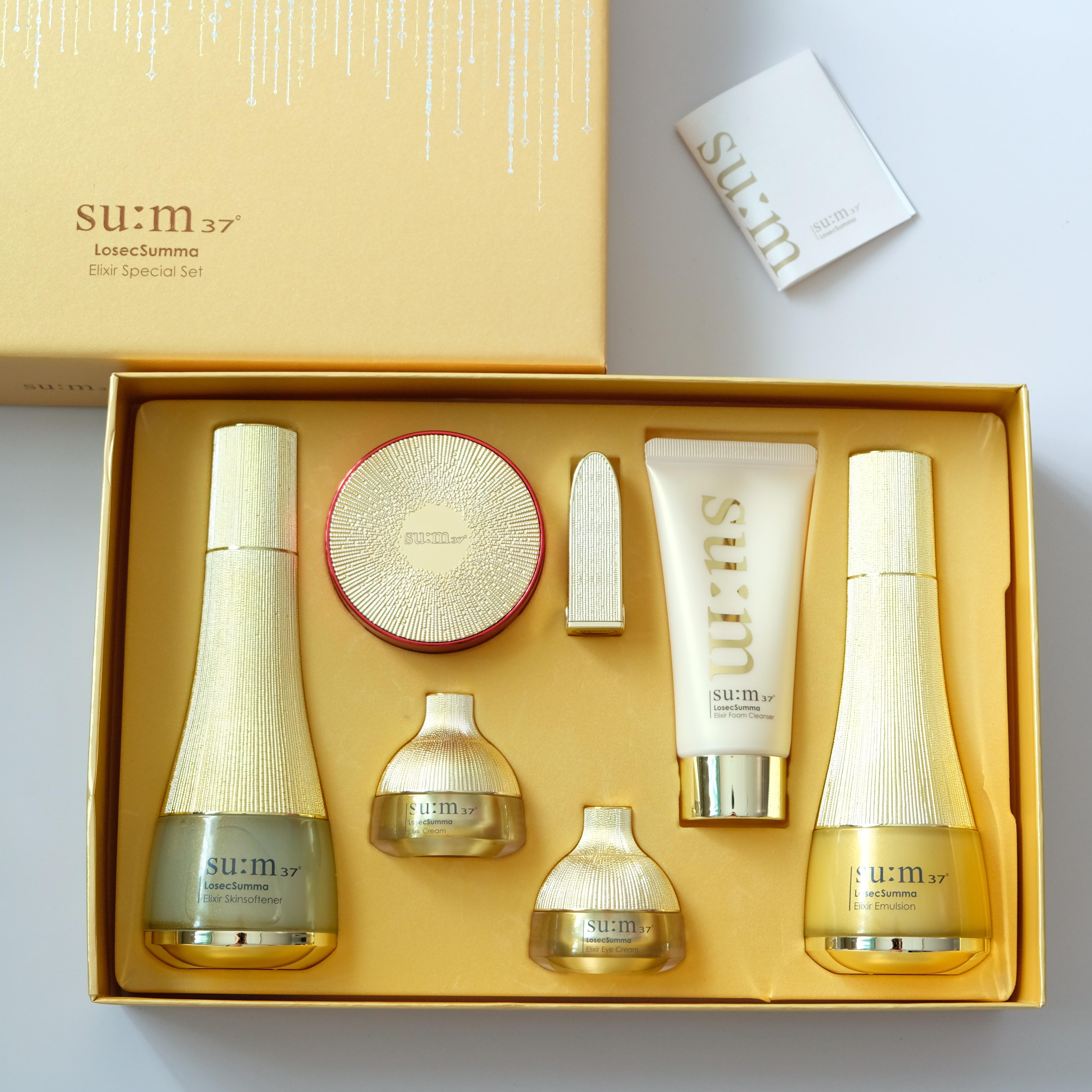 Bộ dưỡng tái sinh da cao cấp Su:m37 Losec Summa Elixir Special Set (7 món)