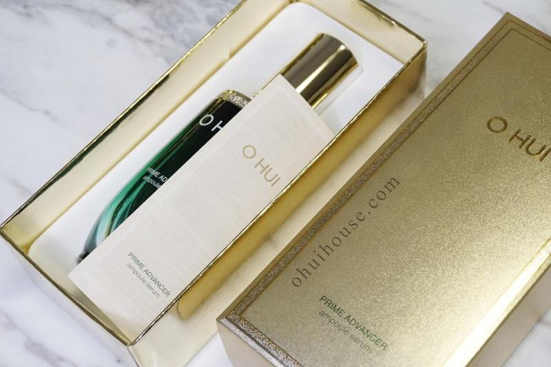 Review tinh chất chống lão hoá đặc biệt OHUI Prime Advancer Ampoule Serum (50ml)