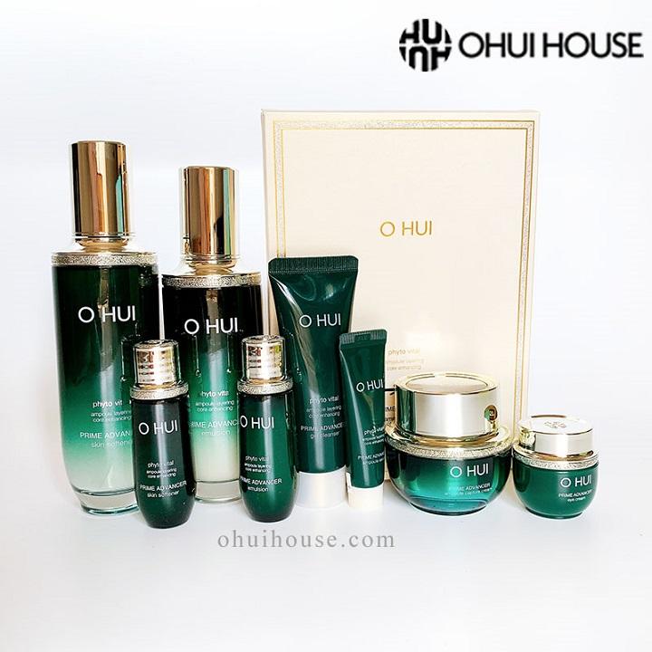 Các sản phẩm trong bộ chống lão hóa OHUI Prime Advancer Special Set