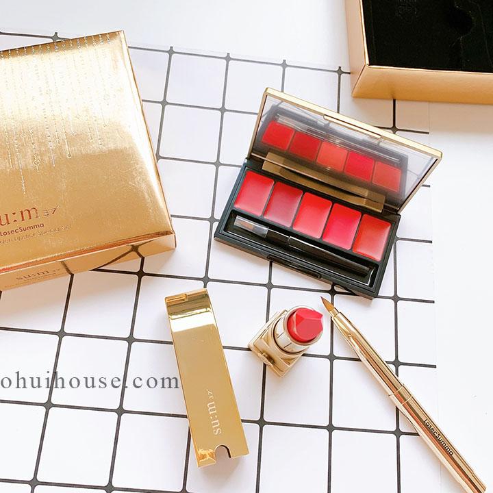 Giới thiệu bộ son lì dưỡng ẩm Su:m 37 Losec Summa Elixir Golden Lipstick Special Set