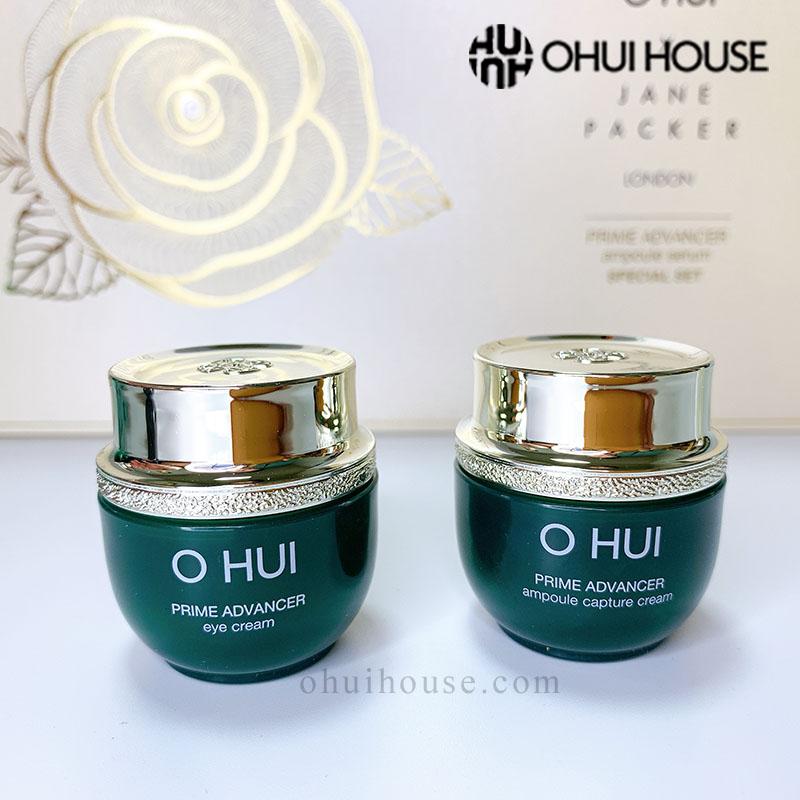 Kem dưỡng OHUI Prime Advancer Ampoule Capture Cream và Kem dưỡng mắt OHUI Prime Advancer Eye Cream