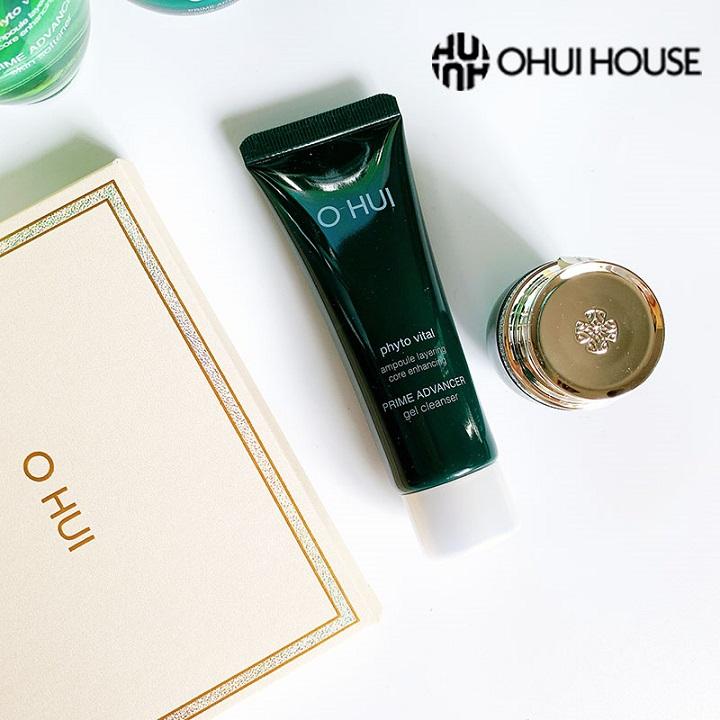 Sữa rửa mặt chống hóa cấp ẩm tức thì cho da OHUI Prime Advancer Gel Cleanser 40ml