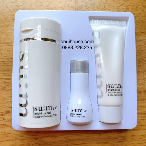 Mặt nạ sủi bọt thải độc Su:m37 Bright Award Micro Bubble De Mask set