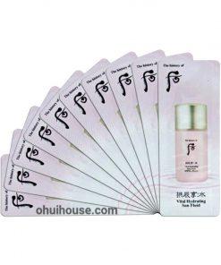 Set 10 gói Sample Kem Chống Nắng Whoo Vital Hydrating Sun Fluid SPF50+/ PA+++