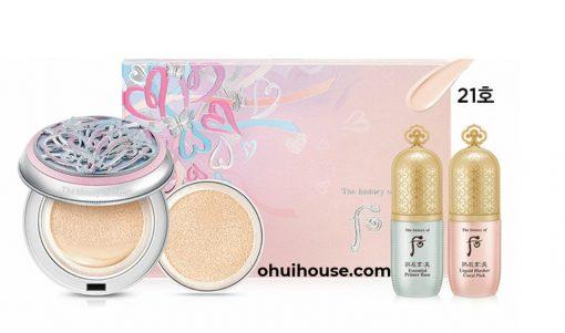 Bộ phấn nước dưỡng trắng cấp ẩm Whoo Gongjinhyang Seol Radiant White Moisture Cushion Foundation Set #21