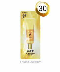 Set 30 gói Sample Kem chống nắng giảm nếp nhăn Whoo Jin Hae Yoon Wrinkle Sun Cream SPF 50+