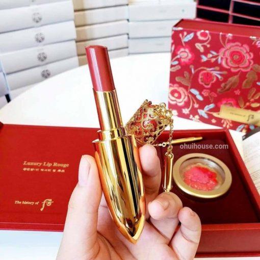 Set son hoàng hậu Whoo Luxury Lip Rouge tone 88
