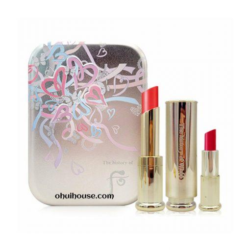 Set Son Dưỡng Môi Whoo Gongjinhyang Mi Glow Lip Balm Red Special
