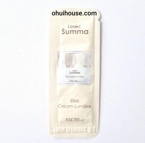 Set 30 Sample gói Kem dưỡng chống lão hóa trắng da đa năng Sum37 Losec Summa Elixir Cream Lumiere